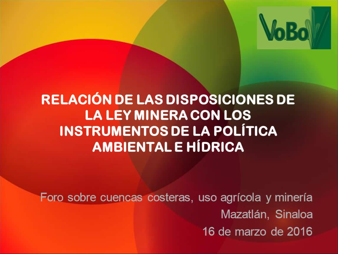 Roberto de la Maza (Relacion de las disposiciones de la ley minera con)