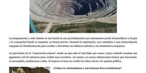 Por que se conoce tan poco sobre la mineria a cielo abierto