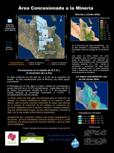 Concesiones mineras al Sur de BCS